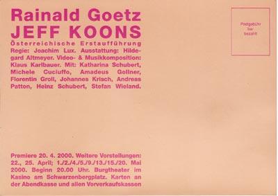 Karlbauer Burgtheater Jeff Koons:
