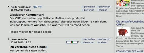 Karlbauer Kommentar der Standard: